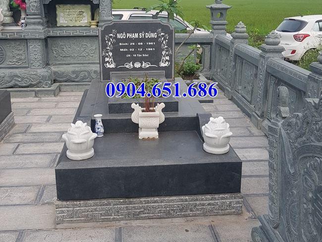 Mẫu lăng mộ đá hoa cương Bình Đình đơn giản đẹp