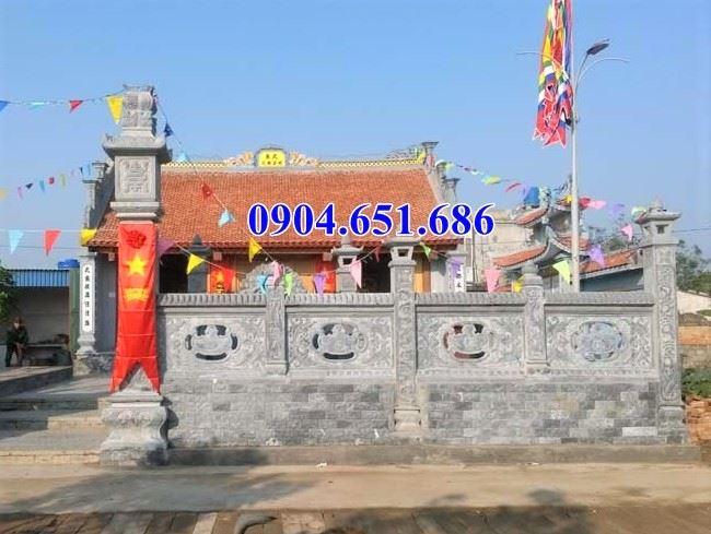 Mẫu lan can khánh đá được sử dụng phổ biến tại nhà thờ họ, đình chùa, nhà thờ tộc..