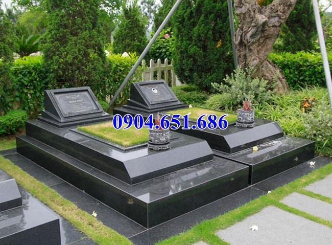Mẫu mộ đá granite thiết kế đơn giản đẹp