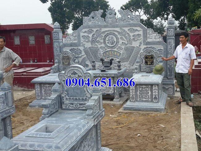 Mẫu mộ tổ đôi bằng đá xanh Thanh Hóa tại Long An, Tiền Giang