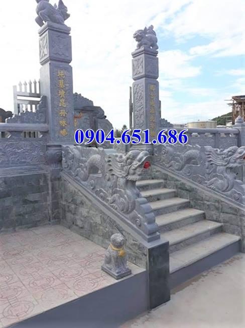 Mẫu rồng đá bậc thềm khu lăng mộ nghĩa trang gia đình giá rẻ