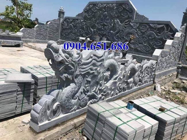 Mẫu rồng đá hàng rào khu lăng mộ, nghĩa trang gia đình