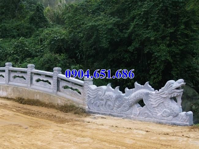 Mẫu rồng lan can cầu đá khối tự nhiên