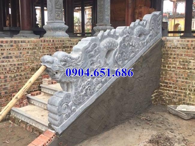 Rồng đá bậc tam cấp đẹp thiết kế chuẩn phong thủy