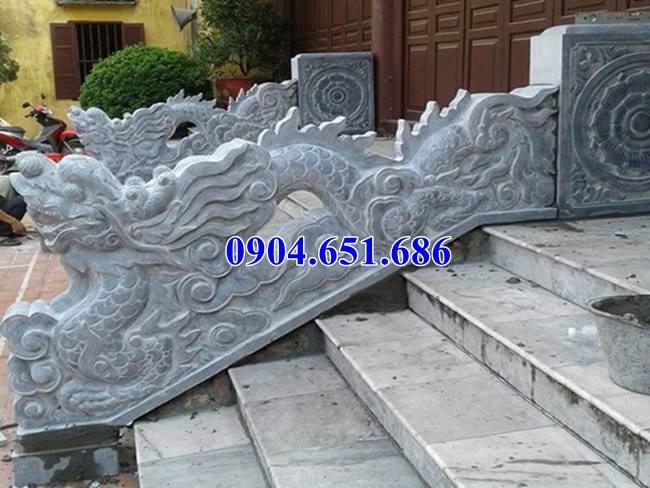 Rồng bậc thềm chế tác từ đá xanh tự nhiên đẹp