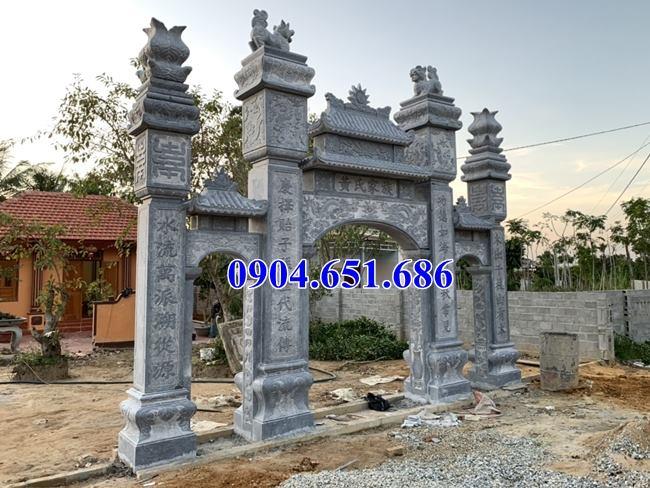 Địa chỉ xây cổng nhà thờ họ, cổng tam quan nhà thờ họ bằng đá tự nhiên tại Hà Tĩnh