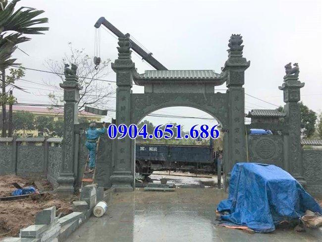Bán mẫu cổng nhà thờ họ bằng đá tự nhiên đẹp tại Nghệ An