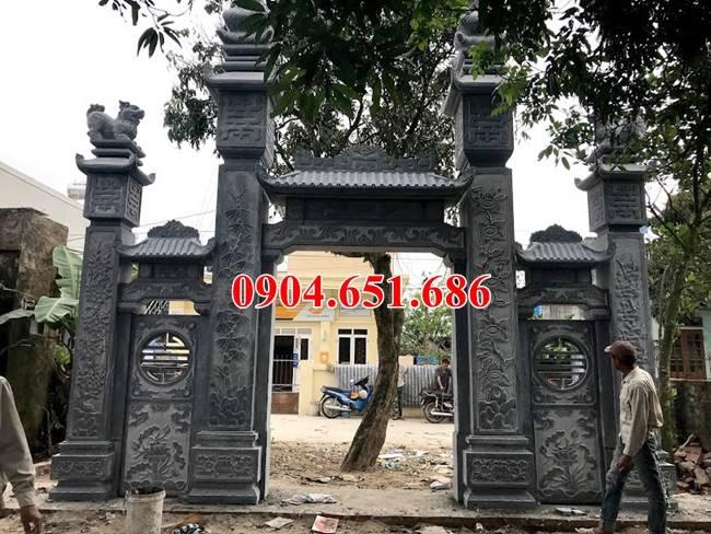 Báo giá xây cổng nhà thờ họ bằng đá tự nhiên