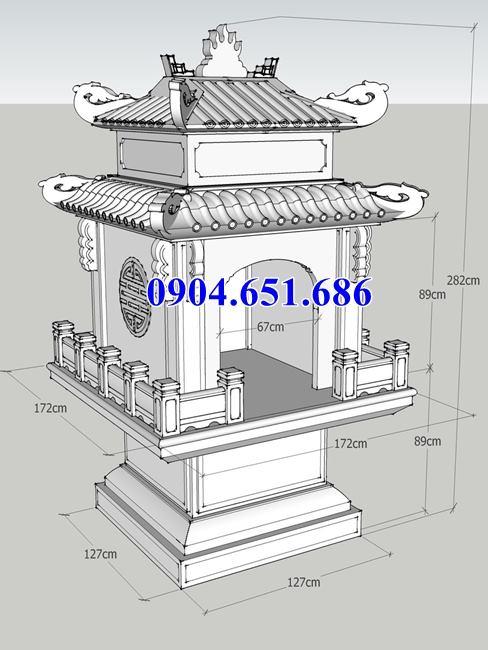 Bản vẽ chi tiết thiết kế miếu thờ đá tại Quận 7 Sài Gòn