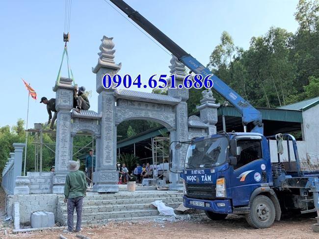 Giá bán cổng đá nhà thờ họ tại Hà Tĩnh