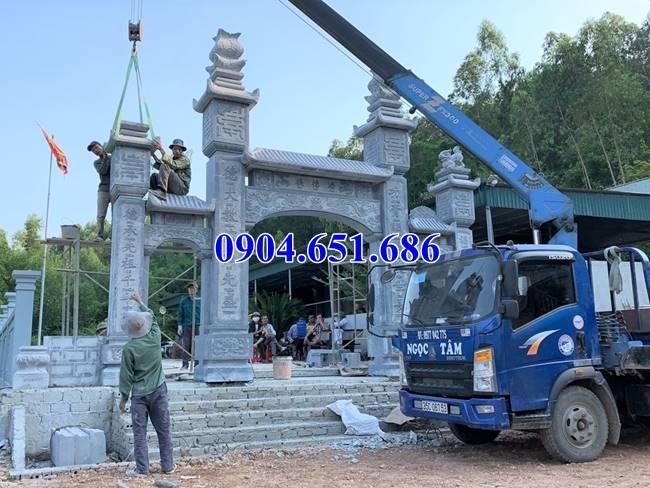 Hình ảnh cổng tam quan nhà thờ họ xây đẹp tại các tỉnh Miền Trung