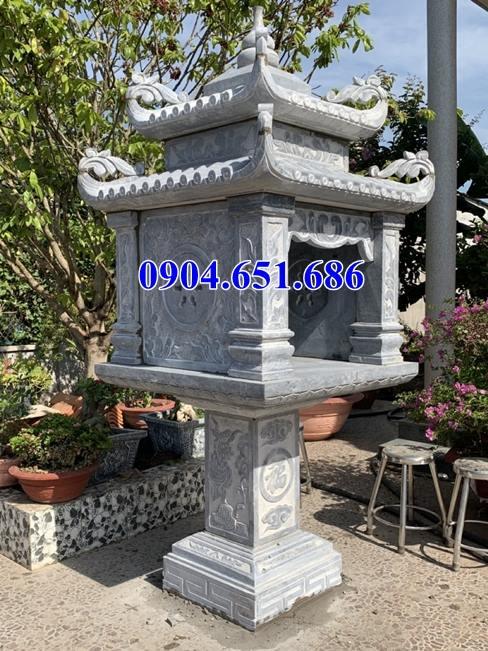 Mẫu cây hương thần linh thờ mẫu cửu xây bằng đá đẹp