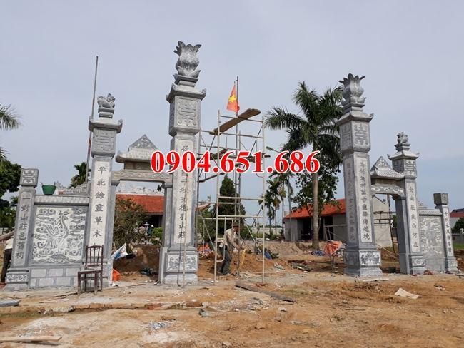 Mẫu cổng đá đẹp bán tại Hòa Bình – Xây cổng nhà thờ họ tại Hòa Bình