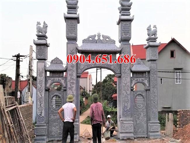 Mẫu cổng nhà thờ họ bằng đá khối tự nhiên thiết kế chuẩn phong thủy