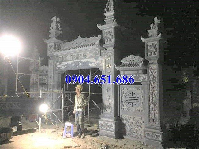 Mẫu cổng nhà thờ họ thiết kế đẹp hoa văn tinh xảo
