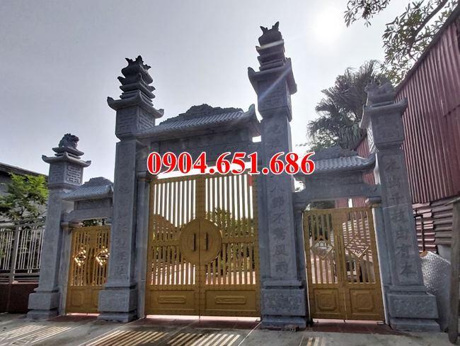 Xây cổng đá nhà thờ họ tại Hà Giang - Mẫu cổng đá đẹp nhà thờ họ