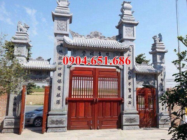 Xây cổng đá nhà thờ họ tại Tuyên Quang – Mẫu cổng đá nhà thờ họ đẹp