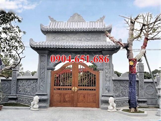 Xây cổng nhà thờ họ, từ đường bằng đá tự nhiên đẹp tại Hòa Bình