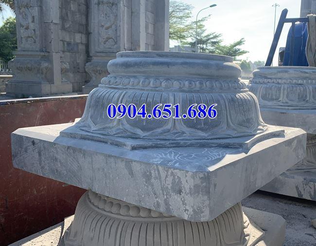 Mẫu đá kê chân cột tròn thiết kế đẹp