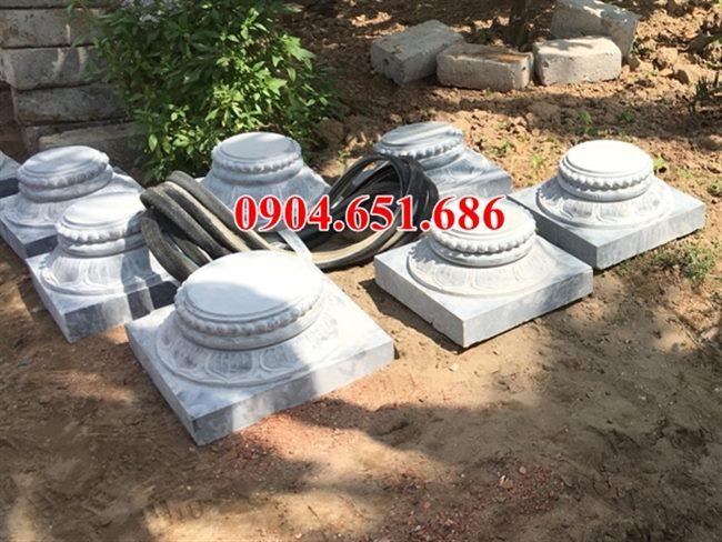 Mẫu đá tảng kê cột hoa văn tinh xảo tại Sài Gòn