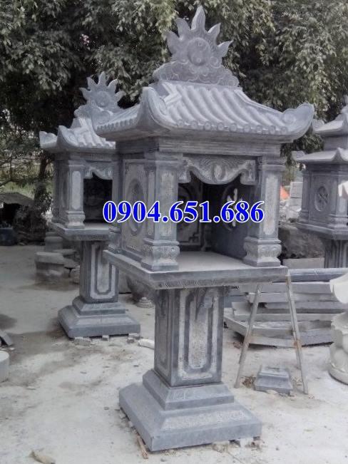 Mẫu bàn thờ thiên đá ngoài trời một mái
