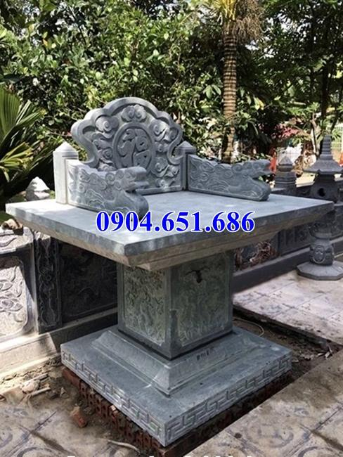 Mẫu bàn thờ thiên ngoài trời bằng đá khối tự nhiên thờ trời, thờ tiền chủ