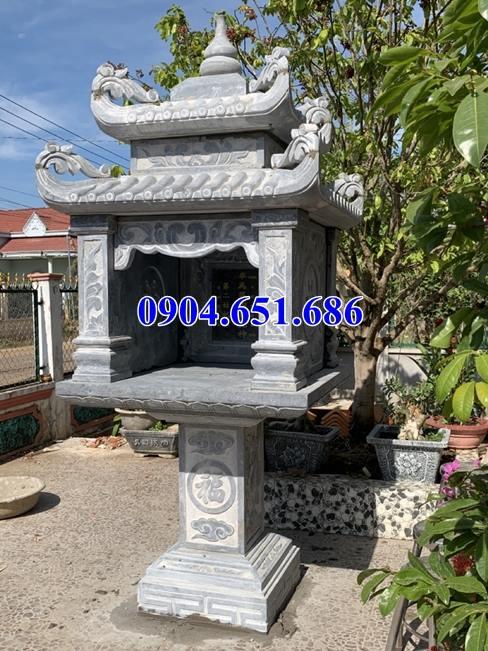 Mẫu bàn thờ thiên ngoài trời bằng đá xanh thờ trời, thờ tiền chủ