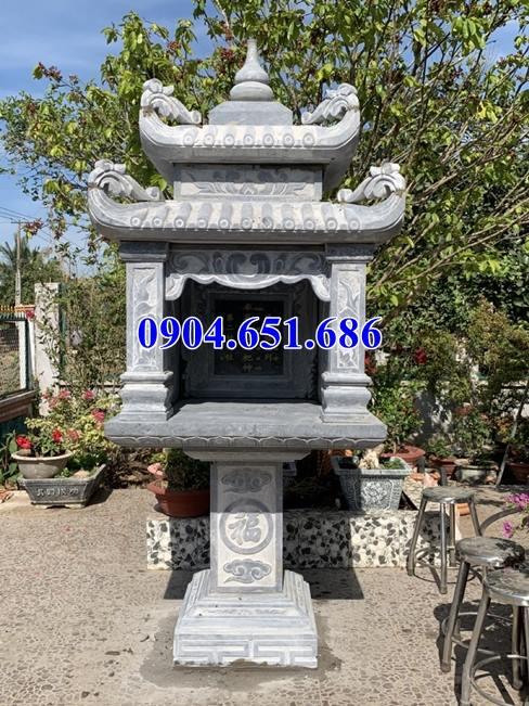 Mẫu bàn thờ thiên trước nhà bằng đá khối tự nhiên giá rẻ