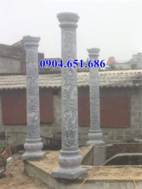 Mẫu cột hiên bằng đá đẹp 32 – Mẫu cột tròn đá tự nhiên