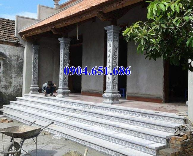 Mẫu cột hiên nhà thờ họ bằng đá đẹp bán tại Nghệ An