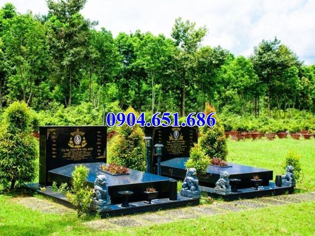 Mẫu mộ đôi thiết kế đơn giản đẹp