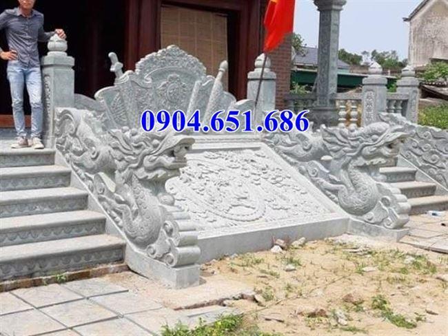 Bán chiếu rồng từ đường, nhà nhờ tộc đá xanh Thanh Hóa tại Bắc Giang