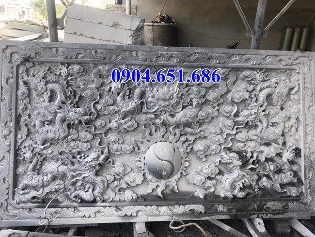 Mẫu chiếu rồng đá đẹp nhà thờ họ tại Điện Biên