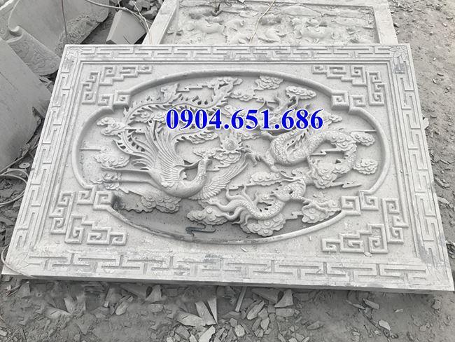 Mẫu chiếu rồng đình chùa, nhà thờ tộc bằng đá khối tự nhiên đẹp