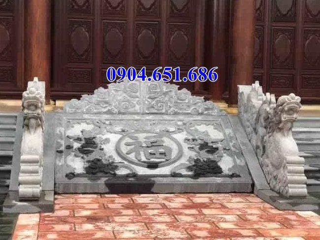 Mẫu chiếu rồng bằng đá tự nhiên đẹp đặt trước cửa đình chùa tại các tỉnh Tây Bắc