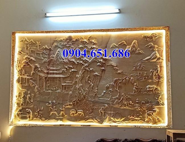 Mẫu chiếu, tranh đá vàng hoa văn tinh xảo bán tại các tỉnh Đông Bắc Bộ