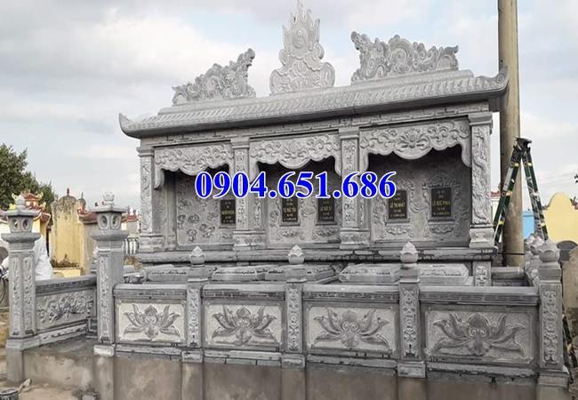 Mẫu lăng mộ hai ba ngôi liền kề xây bằng đá khối tự nhiên đẹp