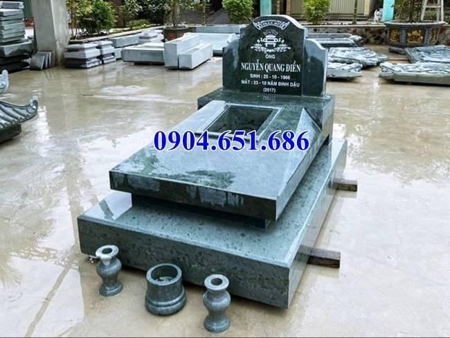 Mẫu mộ đá granite đơn giản không mái đẹp
