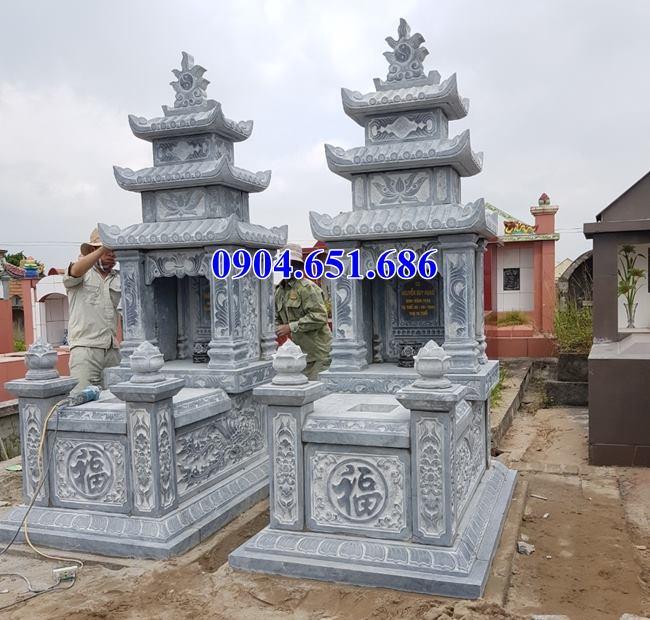 Mẫu mộ đôi đá mỹ nghệ Ninh Bình bán tại Đắc Nông, Đắc Lắc