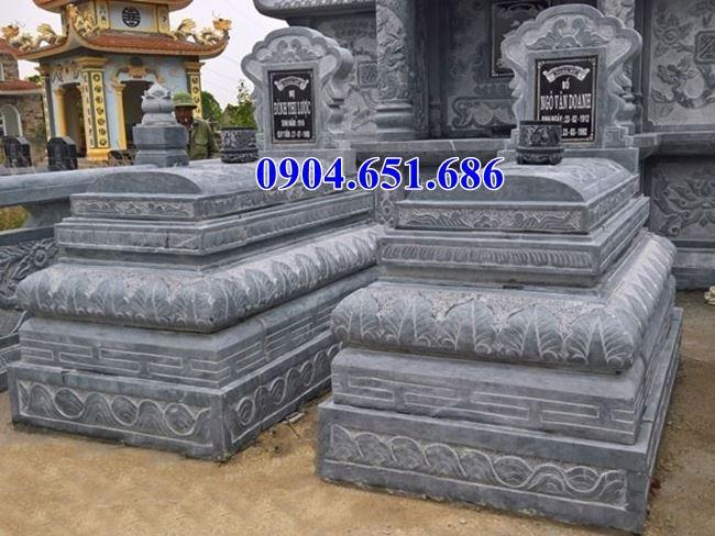 Mẫu mộ đôi đá xanh nguyên khối đẹp nhất hiện nay