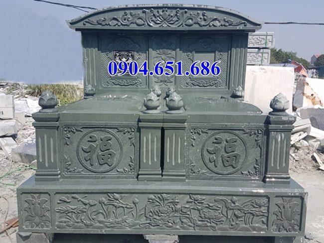 Mẫu mộ đôi đá xanh rêu Thanh Hóa đẹp nhất hiện nay