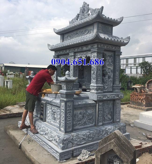 Mẫu mộ đôi hai mái đá mỹ nghệ Ninh Bình bán tại các tỉnh Đông Bắc Bộ