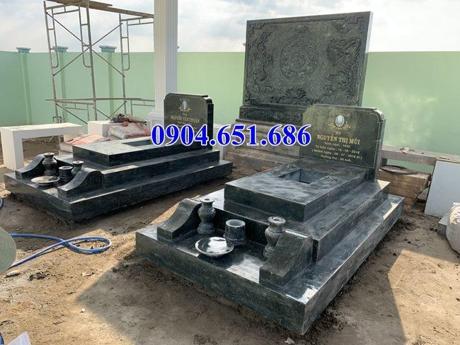 Mẫu mộ đôi tam cấp đẹp đá mỹ nghệ Ninh Bình