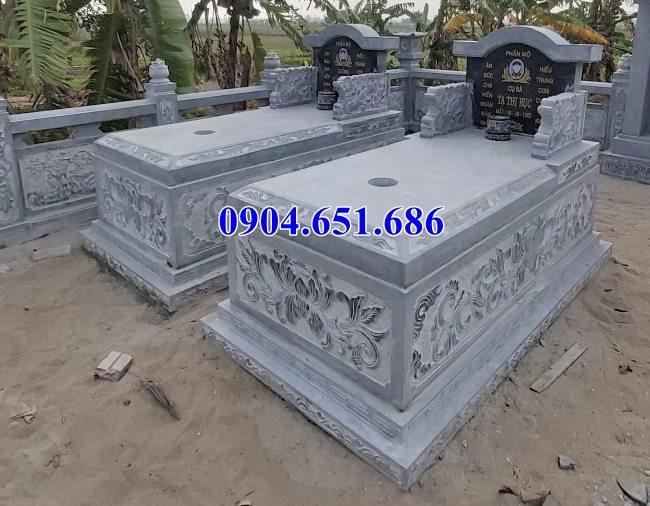 Thiết kế xây mộ đôi kích thước chuẩn phong thủy
