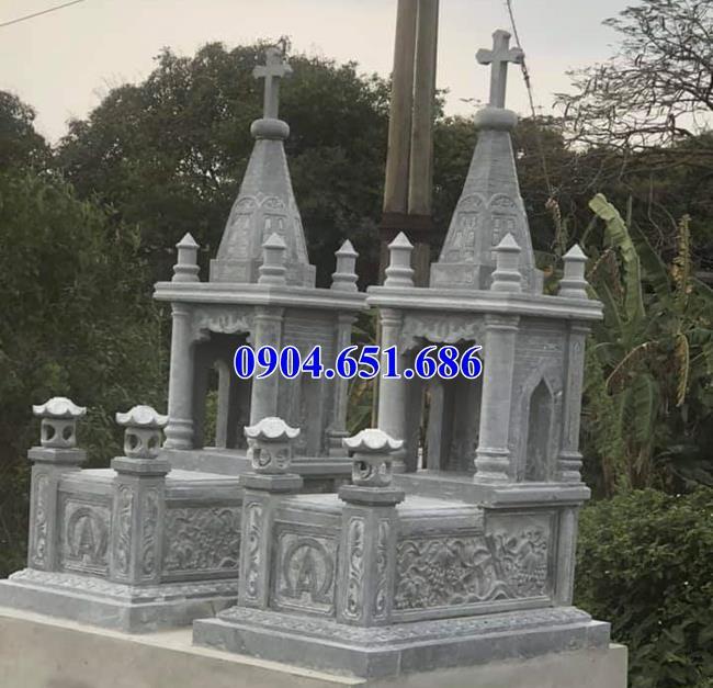 Thiết kế xây mộ công giáo đôi hợp phong thủy