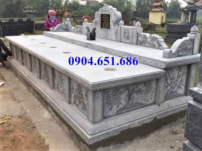 Xây mộ đôi cho Ông Bà, Cha Mẹ bằng đá xanh đẹp