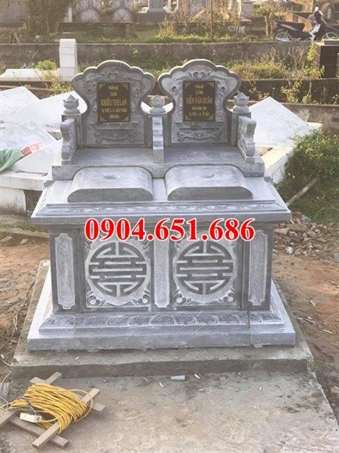 Địa chỉ bán, xây mẫu mộ đôi bằng đá khối tự nhiên tại Quảng Ngãi đẹp giá rẻ