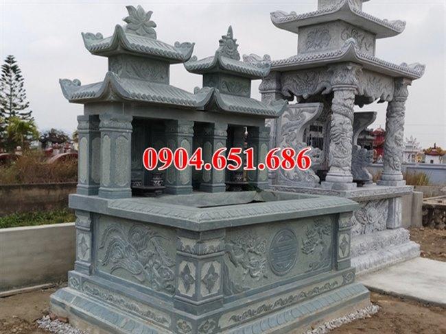 Địa chỉ bán, xây mộ đôi gia đình bằng đá khối tự nhiên đẹp ở Quảng Ngãi