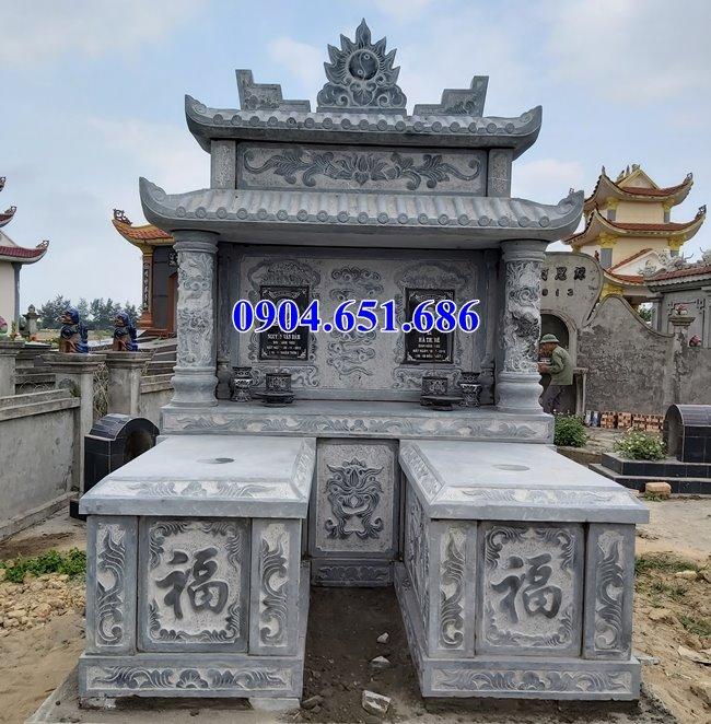 Bán mộ đá đôi có mái che đẹp tại Quảng Nam