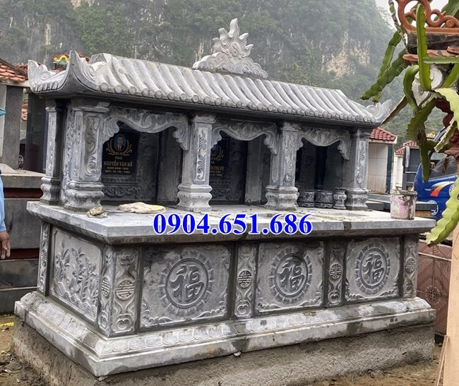 Giá bán mộ đôi đá khối tự nhiên tại tỉnh Quảng Ngãi